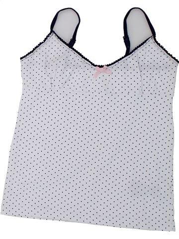 T-shirt sans manches fille DEBENHAMS blanc 13 ans été #1426751_1