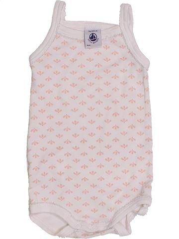 T-shirt sans manches fille PETIT BATEAU blanc 3 mois été #1426768_1