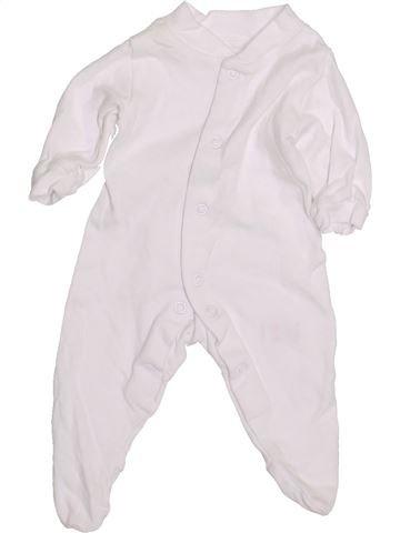 Pyjama 1 pièce unisexe GEORGE blanc prématuré été #1426776_1