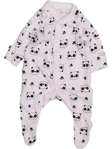 Pyjama 1 pièce garçon MOTHERCARE blanc prématuré été #1426810_1