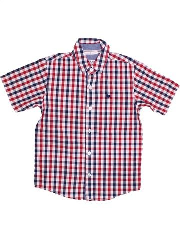 Chemise manches courtes garçon JASPER CONRAN violet 8 ans été #1427059_1