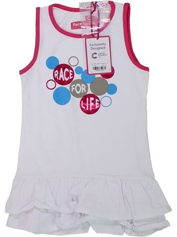 Robe fille RACE FOR LIFE blanc 6 ans été #1427339_1