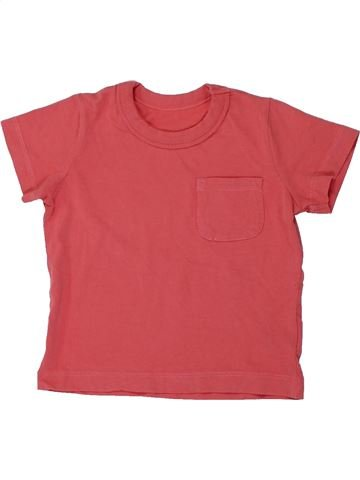T-shirt manches courtes fille SANS MARQUE rose 12 mois été #1427582_1