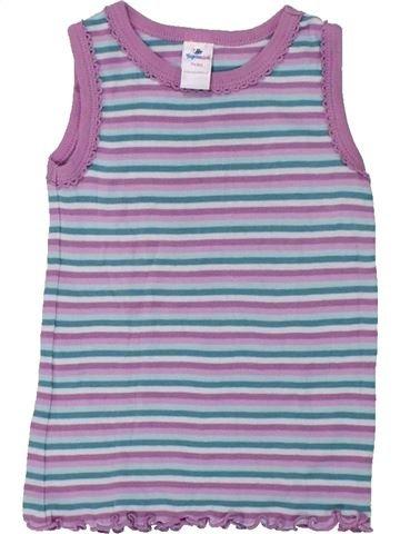 T-shirt sans manches fille TOPOMINI violet 18 mois été #1427669_1