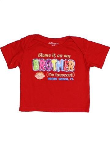 T-shirt manches courtes unisexe SANS MARQUE rouge 2 ans été #1428043_1