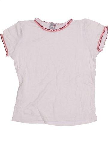 T-shirt manches courtes fille IDEXE blanc 6 ans été #1428063_1