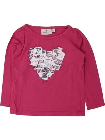 T-shirt manches longues fille TOM TAILOR rose 3 ans hiver #1428137_1