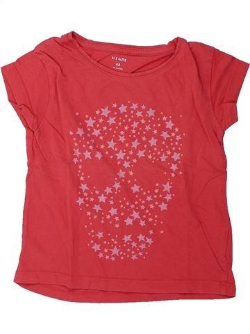 T-shirt manches courtes fille KIABI rose 4 ans été #1428489_1