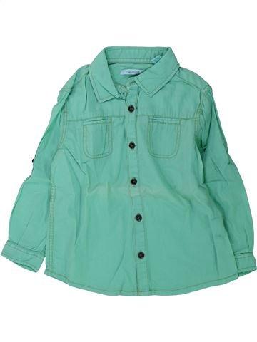 Chemise manches longues garçon OKAIDI vert 3 ans hiver #1428949_1