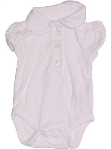 T-shirt manches courtes fille NUTMEG blanc naissance été #1429346_1