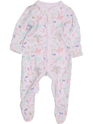 Pyjama 1 pièce fille LILY & DAN blanc 9 mois hiver #1430066_1