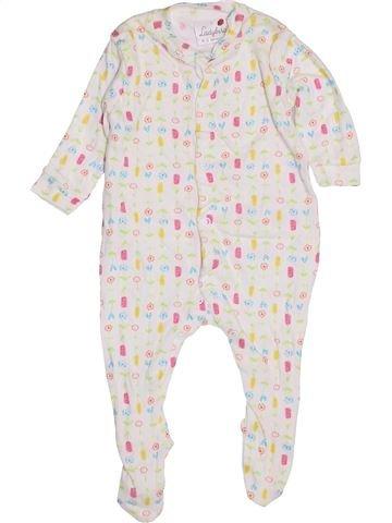 Pyjama 1 pièce fille LADYBIRD blanc 3 mois hiver #1430252_1