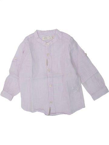 Chemise manches longues garçon ZARA blanc 18 mois été #1430418_1