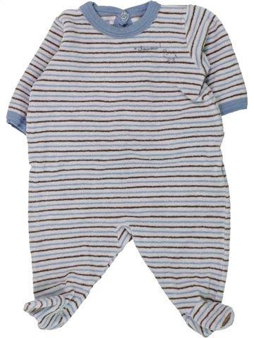 Pijama de 1 pieza niño PETIT BATEAU gris 1 mes invierno #1430818_1