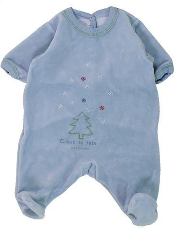 Pyjama 1 pièce garçon PETIT BATEAU bleu naissance hiver #1430820_1