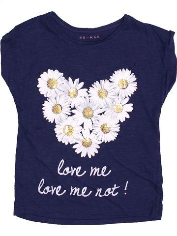T-shirt manches courtes fille NUTMEG blanc 9 ans été #1430833_1