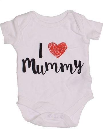 T-shirt manches courtes garçon NUTMEG blanc naissance été #1430904_1