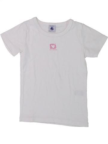 T-shirt manches courtes fille PETIT BATEAU blanc 5 ans été #1430911_1