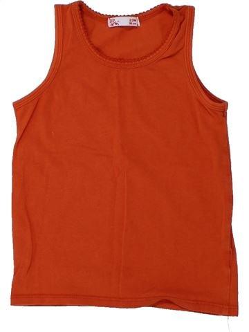 T-shirt sans manches fille DPAM rouge 2 ans été #1430921_1