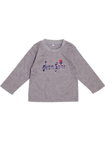 T-shirt manches longues garçon SANS MARQUE gris 18 mois hiver #1431037_1