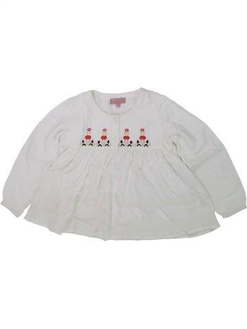 Blouse manches longues fille LISA ROSE blanc 4 ans hiver #1431127_1