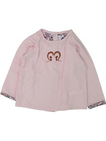 T-shirt manches longues fille CADET ROUSSELLE gris 12 mois hiver #1431369_1
