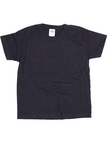 T-shirt manches courtes garçon FRUIT OF THE LOOM noir 6 ans été #1431482_1