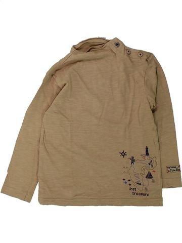 T-shirt manches longues garçon KIABI marron 3 ans hiver #1431631_1