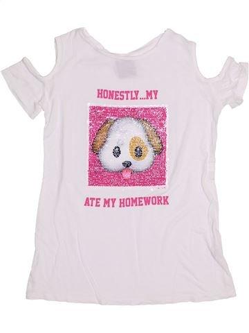 T-shirt manches courtes fille PRIMARK blanc 11 ans été #1431644_1