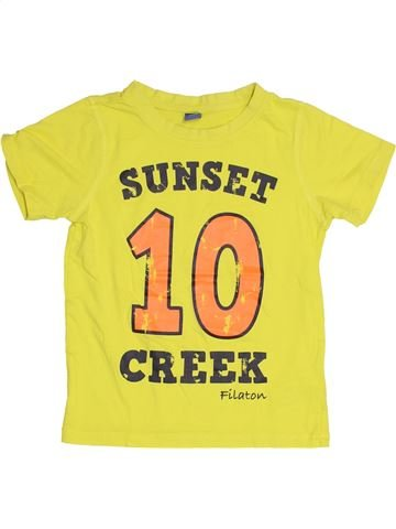 T-shirt manches courtes garçon DOPODOPO jaune 7 ans été #1431672_1