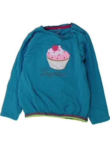 T-shirt manches longues fille JBC vert 18 mois hiver #1431760_1