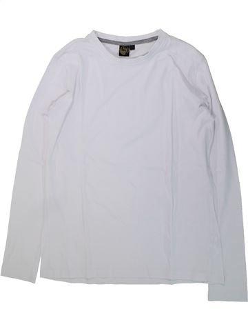 T-shirt manches longues garçon KIABI blanc 14 ans hiver #1431792_1