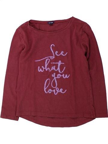 T-shirt manches longues fille KIABI marron 6 ans hiver #1431878_1