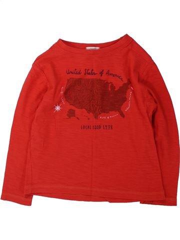 T-shirt manches longues garçon MANGO rouge 5 ans hiver #1431904_1