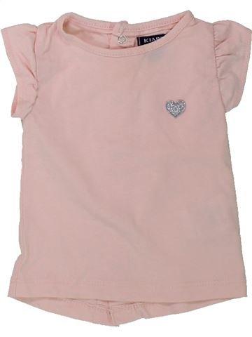 T-shirt manches courtes fille KIABI rose 1 mois été #1432019_1