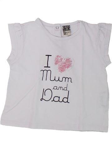 T-shirt manches courtes fille TAPE À L'OEIL blanc 2 ans été #1432101_1