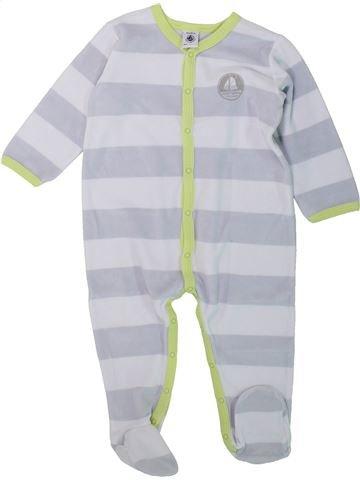 Pyjama 1 pièce garçon PETIT BATEAU gris 18 mois hiver #1432185_1