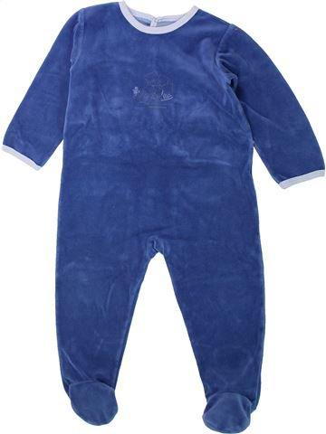 Pijama de 1 pieza niño PETIT BATEAU azul 2 años invierno #1432196_1