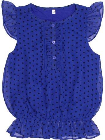 Blusa de manga corta niña MARKS & SPENCER azul 8 años invierno #1432323_1