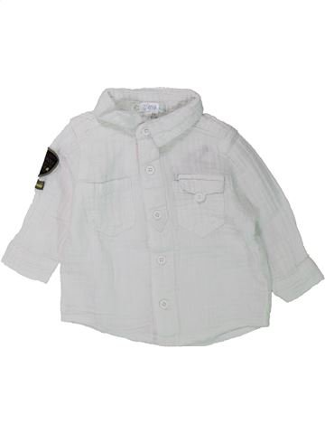 Chemise manches longues garçon KIABI blanc 6 mois hiver #1432333_1