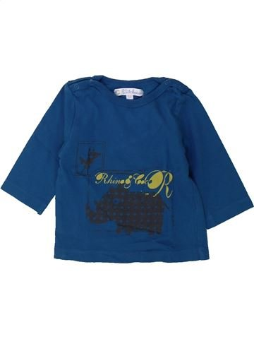 T-shirt manches longues garçon KIABI bleu 3 mois hiver #1432342_1