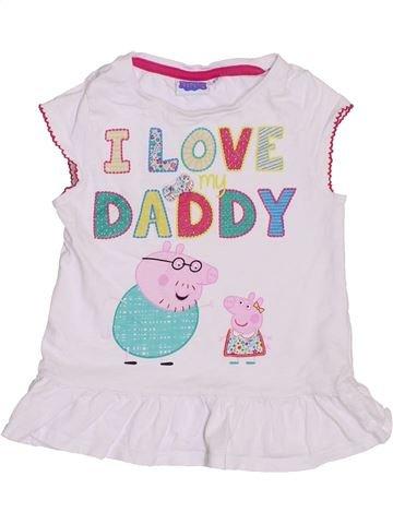 T-shirt manches courtes fille PEPPA PIG blanc 5 ans été #1432369_1