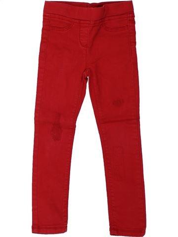 Pantalon fille TAPE À L'OEIL rouge 4 ans hiver #1432653_1