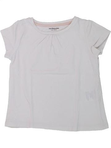 T-shirt manches courtes fille VERTBAUDET blanc 2 ans été #1432675_1