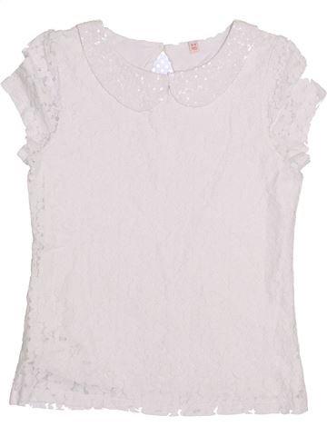 T-shirt manches courtes fille SANS MARQUE blanc 9 ans été #1432688_1