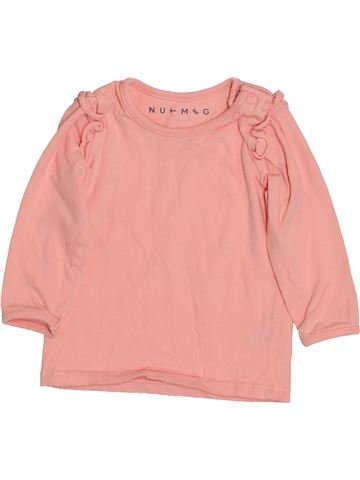 T-shirt manches longues fille NUTMEG rose 9 mois hiver #1432774_1