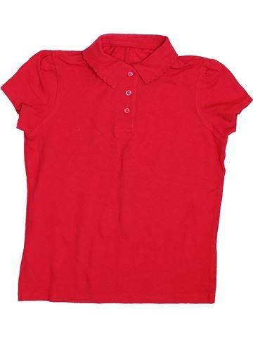Polo de manga corta niña GEORGE rojo 10 años verano #1433039_1