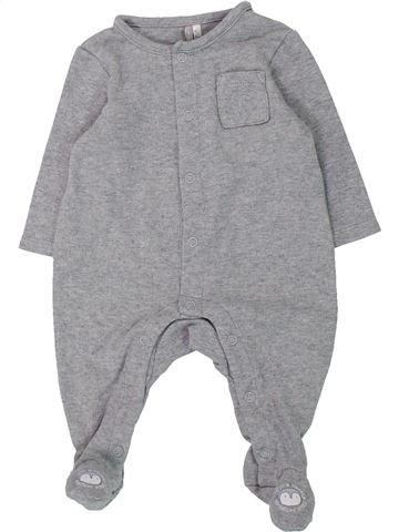Pyjama 1 pièce garçon ORCHESTRA gris 3 mois été #1433144_1
