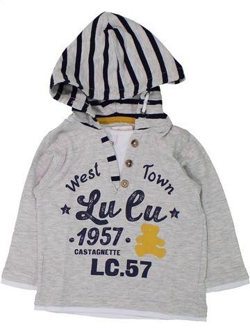 T-shirt manches longues garçon LULU CASTAGNETTE gris 12 mois hiver #1433183_1