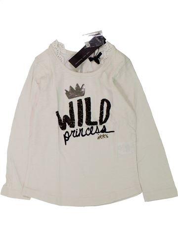 T-shirt manches longues fille IKKS blanc 3 ans hiver #1433232_1